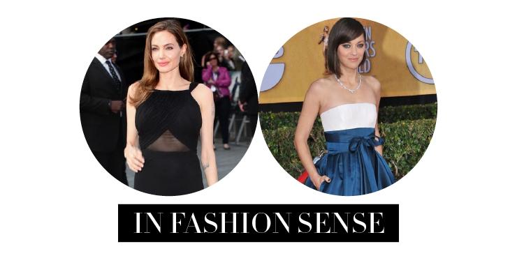 Angelina Jolie vs Marion Cotillard dalam Fashion