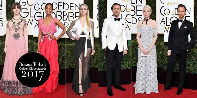 Gaya Busana Terbaik pada Golden Globe Awards 2017