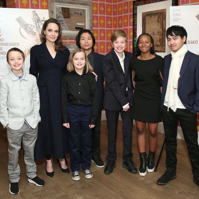 Angelina Jolie Membawa 6 Anaknya ke Acara Screening Film