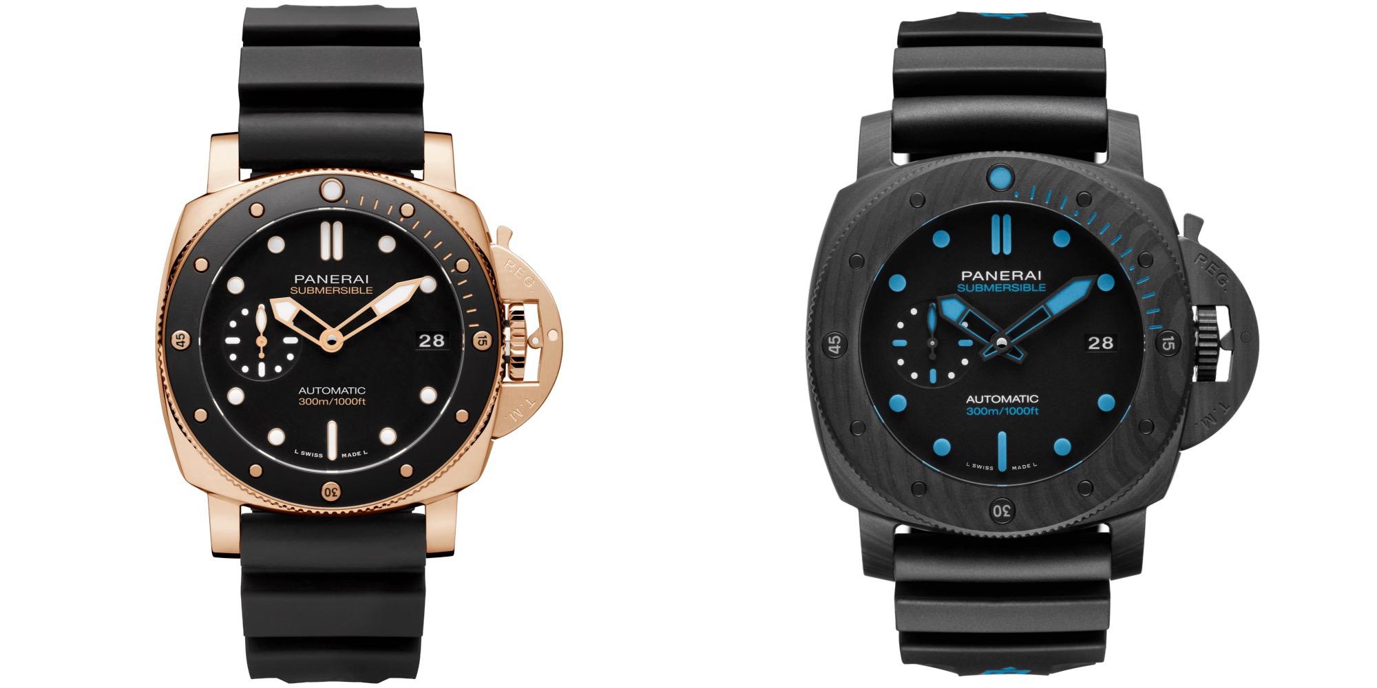 (Dari kiri ke kanan: Goldtech 42mm (PAM1164) dan Carbotech 47mm (PAM1616)/Foto: Courtesy of Panerai)