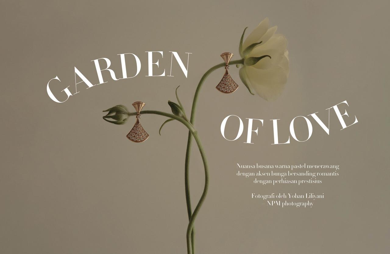 Fashion Spread Garden of Love: Keajaiban dari Paduan antara Busana Bernuansa Pastel Menerawang dan Koleksi Perhiasan Prestisius