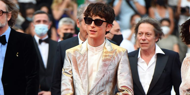 Timothée Chalamet Berhasil Curi Perhatian Saat Pakai Setelan Metalik di Festival Film Cannes