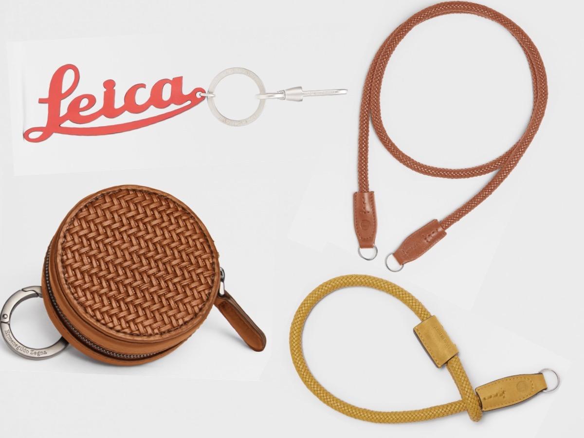 Dompet bundar, gantungan kunci, dan straps