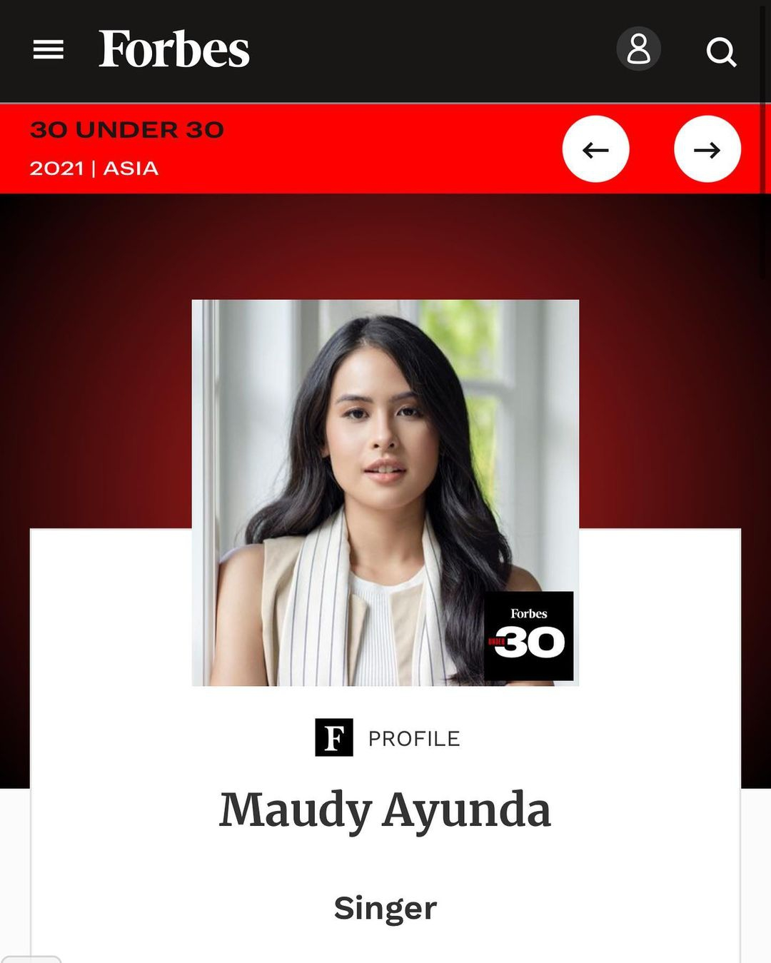 Foto: Courtesy of Instagram @maudyayunda