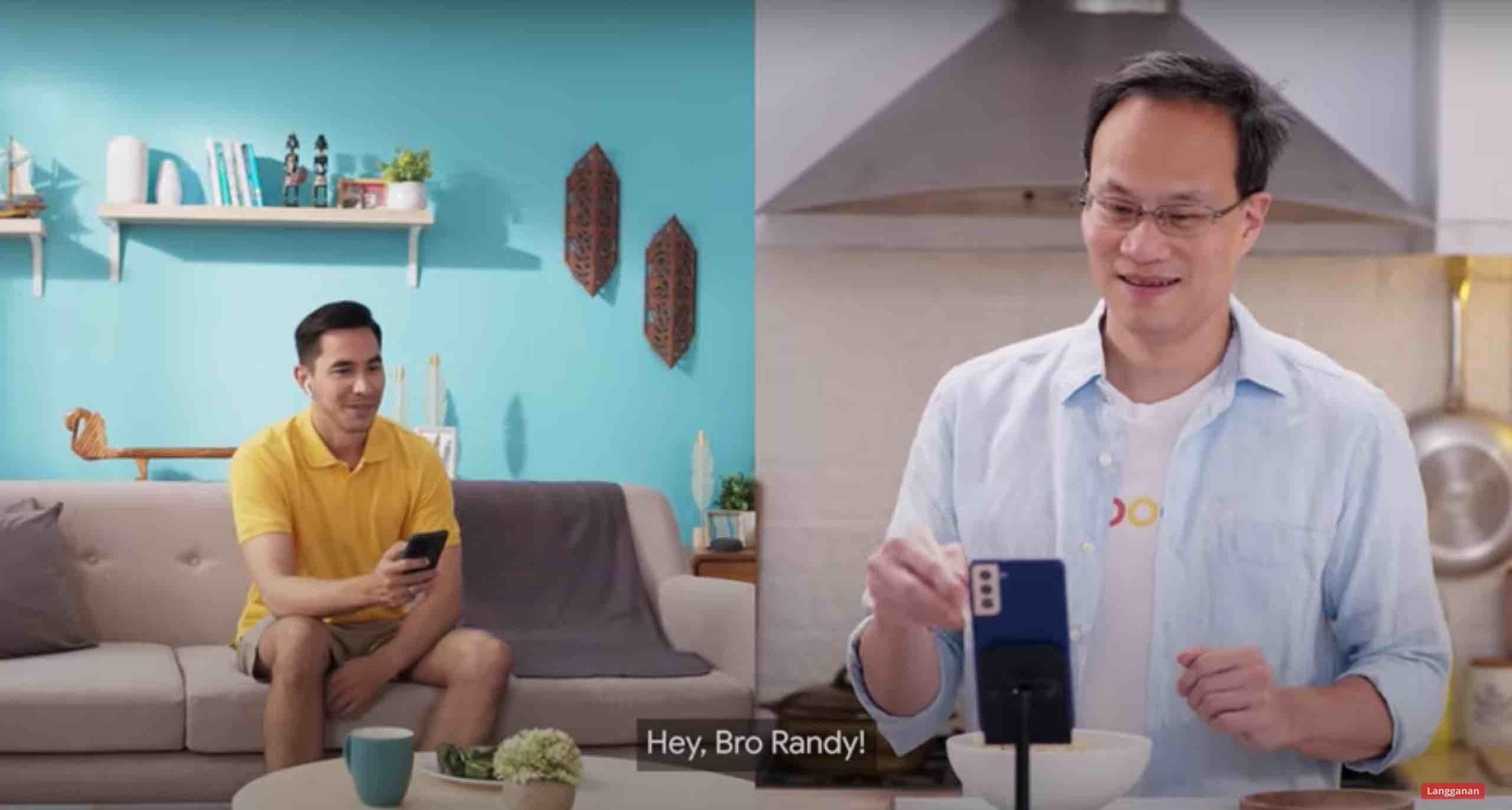 (Darius Sinathrya dan Randy Jusuf Managing Director Google Indonesia)