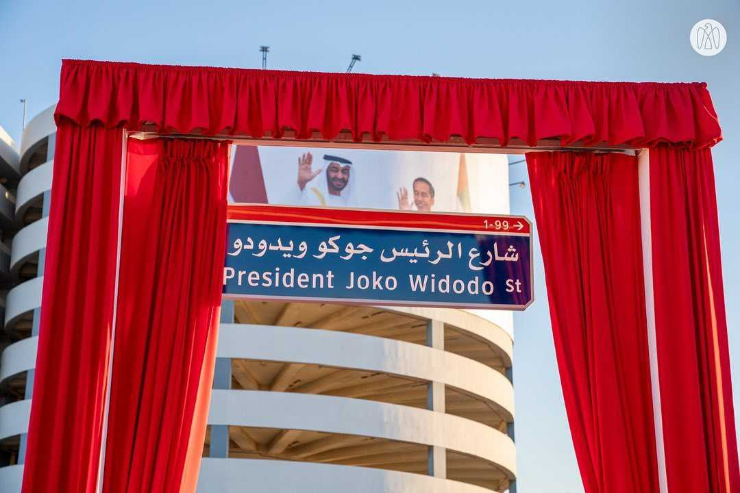 Nama Presiden Jokowi Diabadikan Sebagai Nama Jalan di Uni Emirat Arab