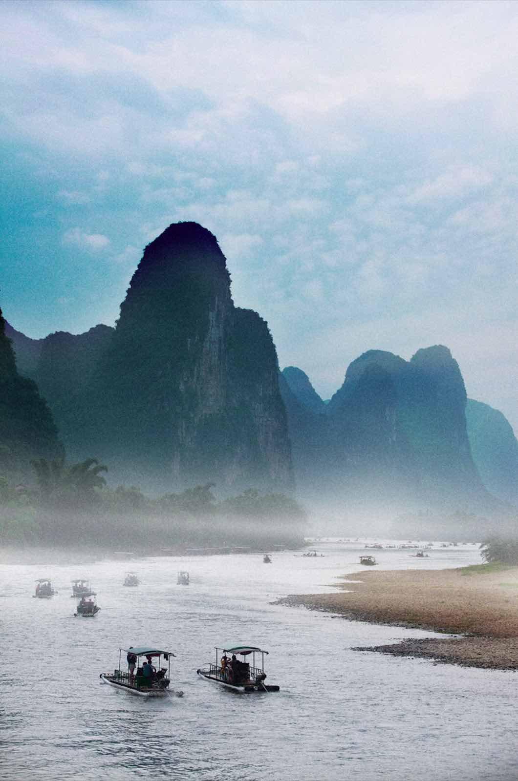 (Gullin, Tiongkok, tempat di mana bunga Osmanthus tumbuh dan berbunga)