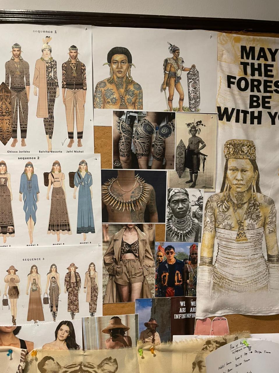 Mood board dan pengembangan koleksi Ghea Resort by Amanda Janna / Foto: Courtesy of Ghea Fashion Studio
