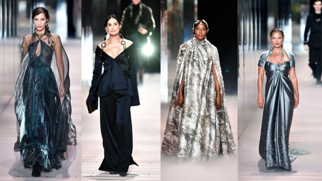Kate Moss, Naomi Campbell, dan Bella Hadid Adalah Beberapa Nama Model yang berjalan pada Debut Kim Jones untuk Fendi