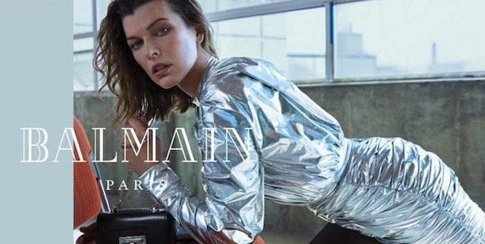 Mengintip Milla Jovovich di Kampanye Balmain