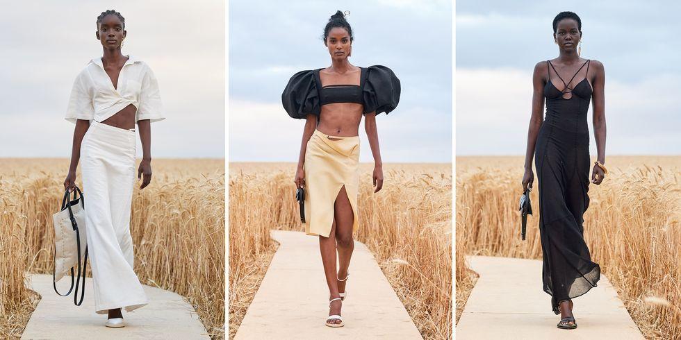 Presentasi Fashion di Tengah Hamparan Barley oleh Jacquemus