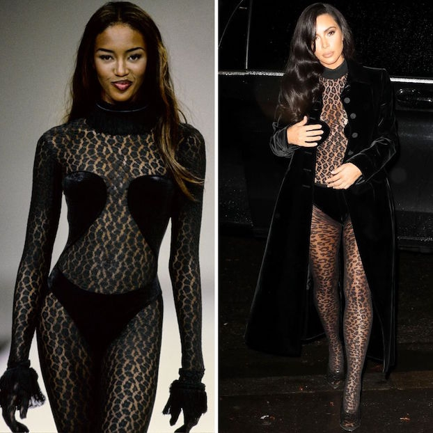 Kim Kardashian Terlihat Meniru Gaya '90s Naomi Campbell