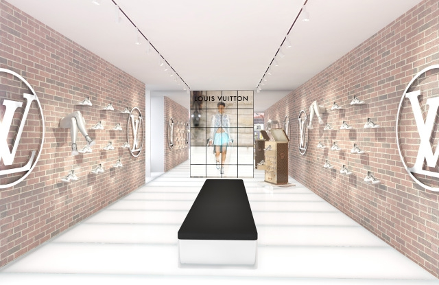 Butik Pop-Up Sneakers Louis Vuitton di New York