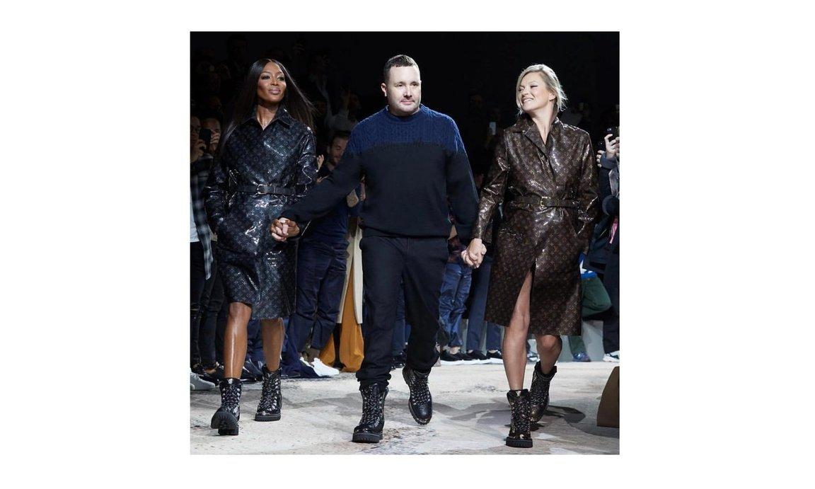 Naomi Campbell dan Kate Moss di Panggung Louis Vuitton