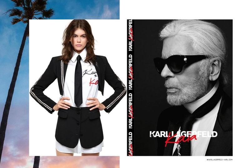 Mengintip Kolaborasi Kaia Gerber dan Karl Lagerfeld