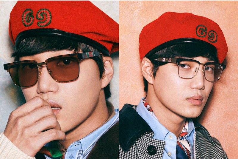 Perdana! Kai EXO Membintangi Kampanye Kacamata Gucci
