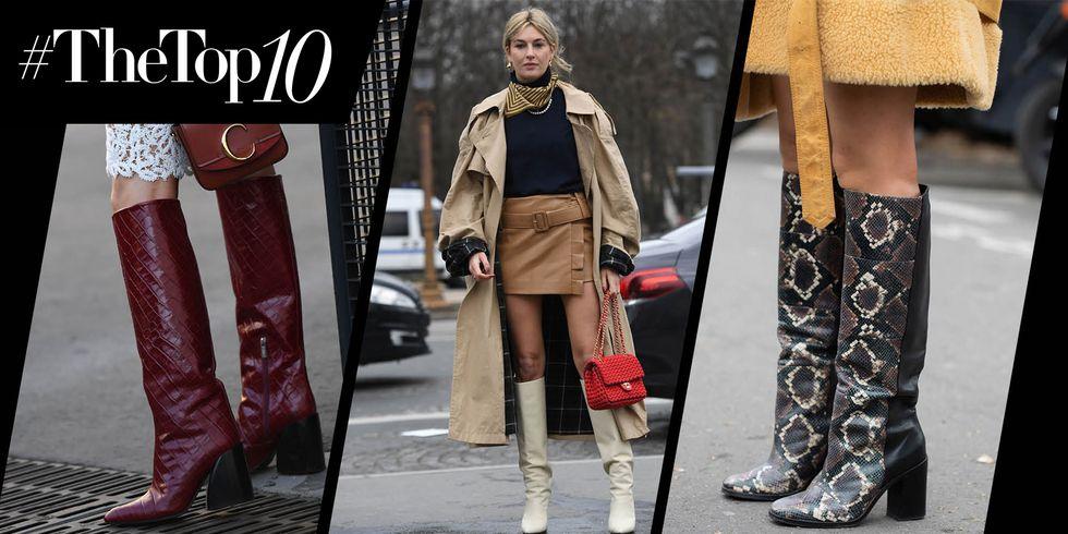 10 Model Sepatu Boots Tinggi untuk Musim Gugur