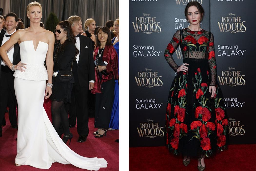 Persaingan Charlize Theron & Emily Blunt di Red Carpet