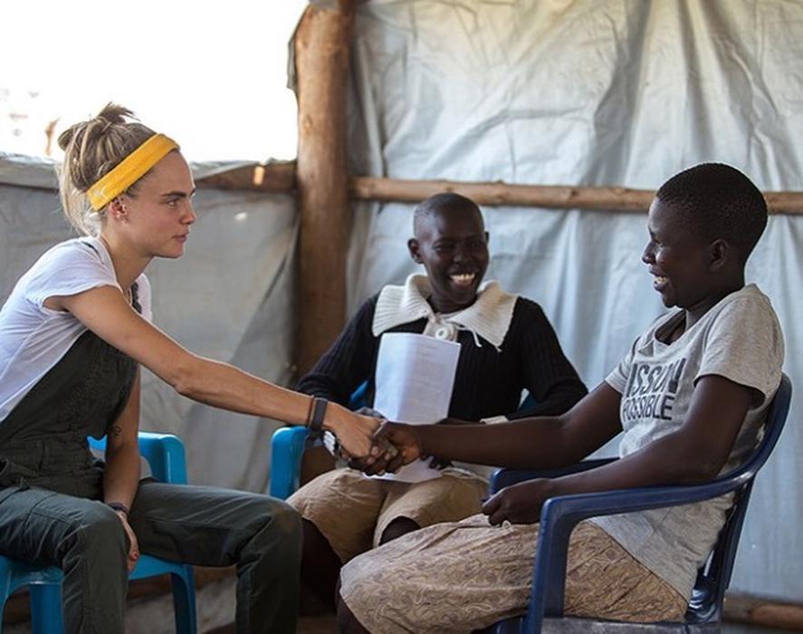 Cara Delevingne Berkunjung ke Uganda