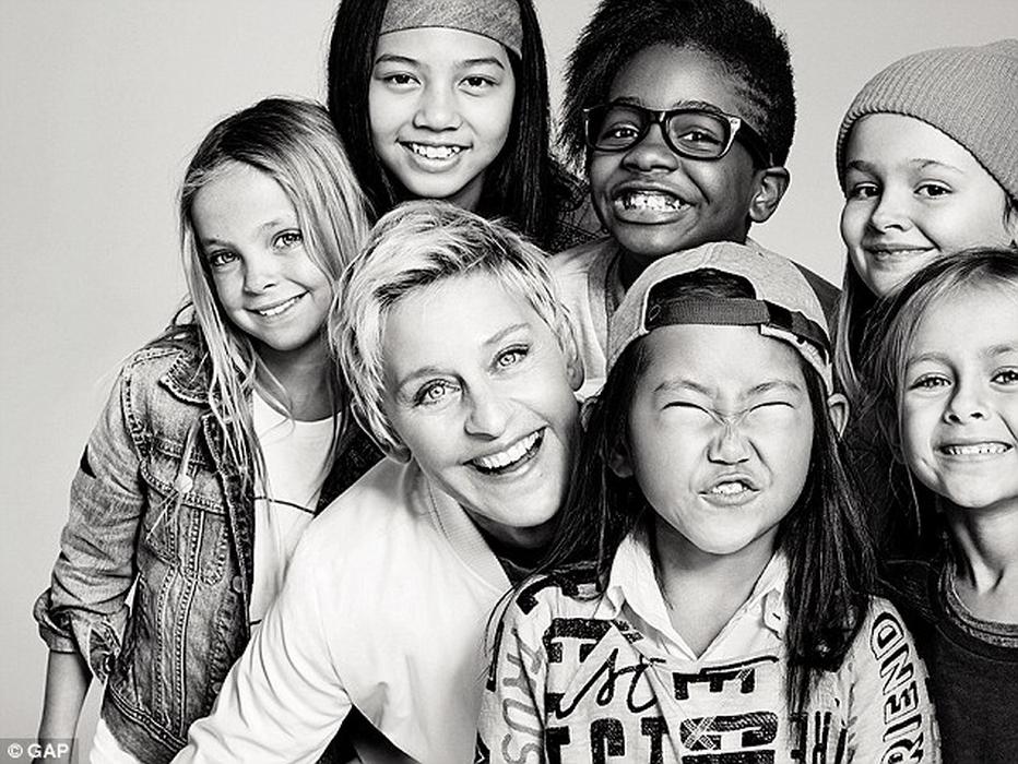 Gap Kids dan Ellen DeGeneres Berkolaborasi