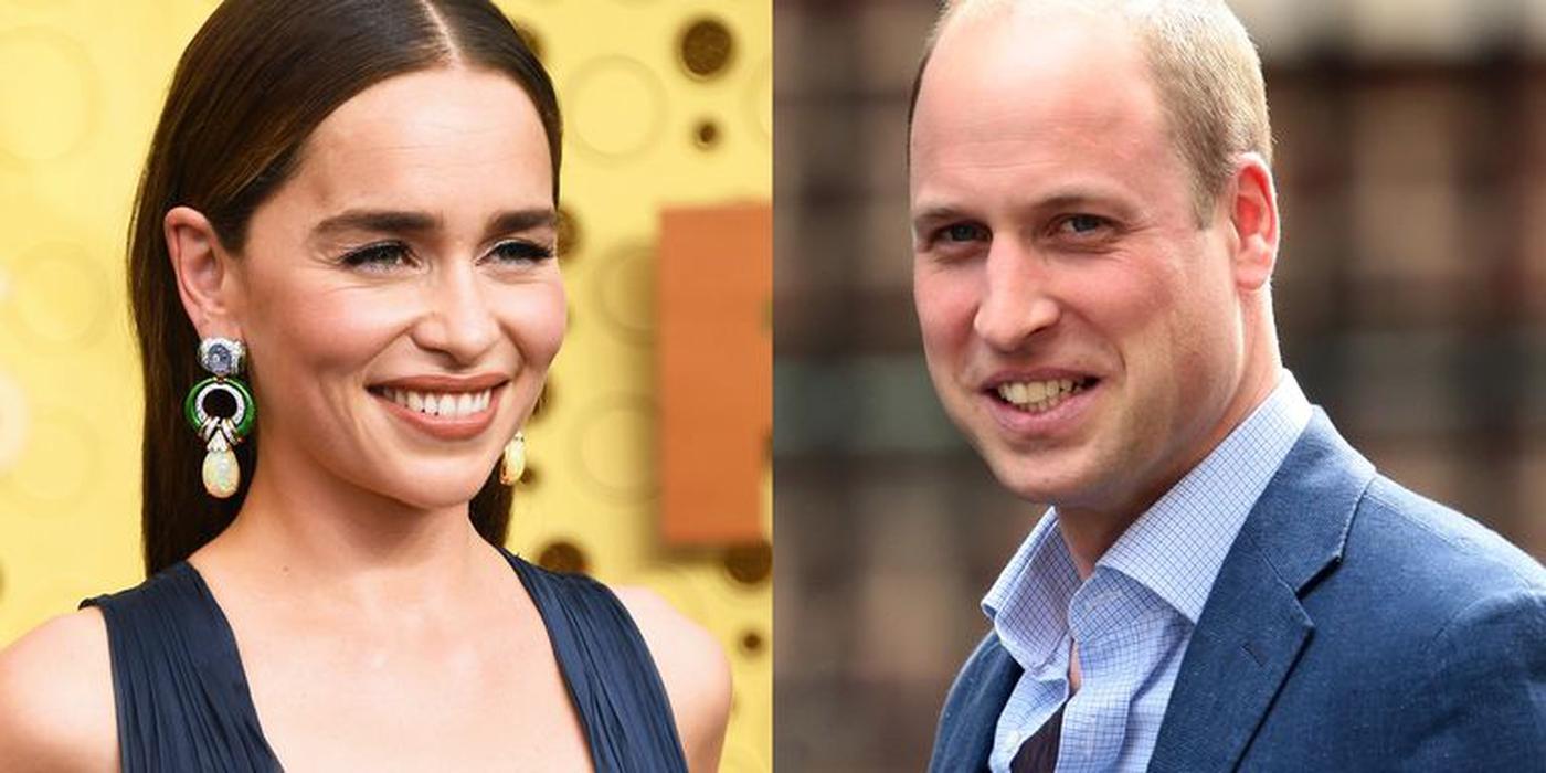Emilia Clarke Bingung Saat Beri Penghormatan Prince William