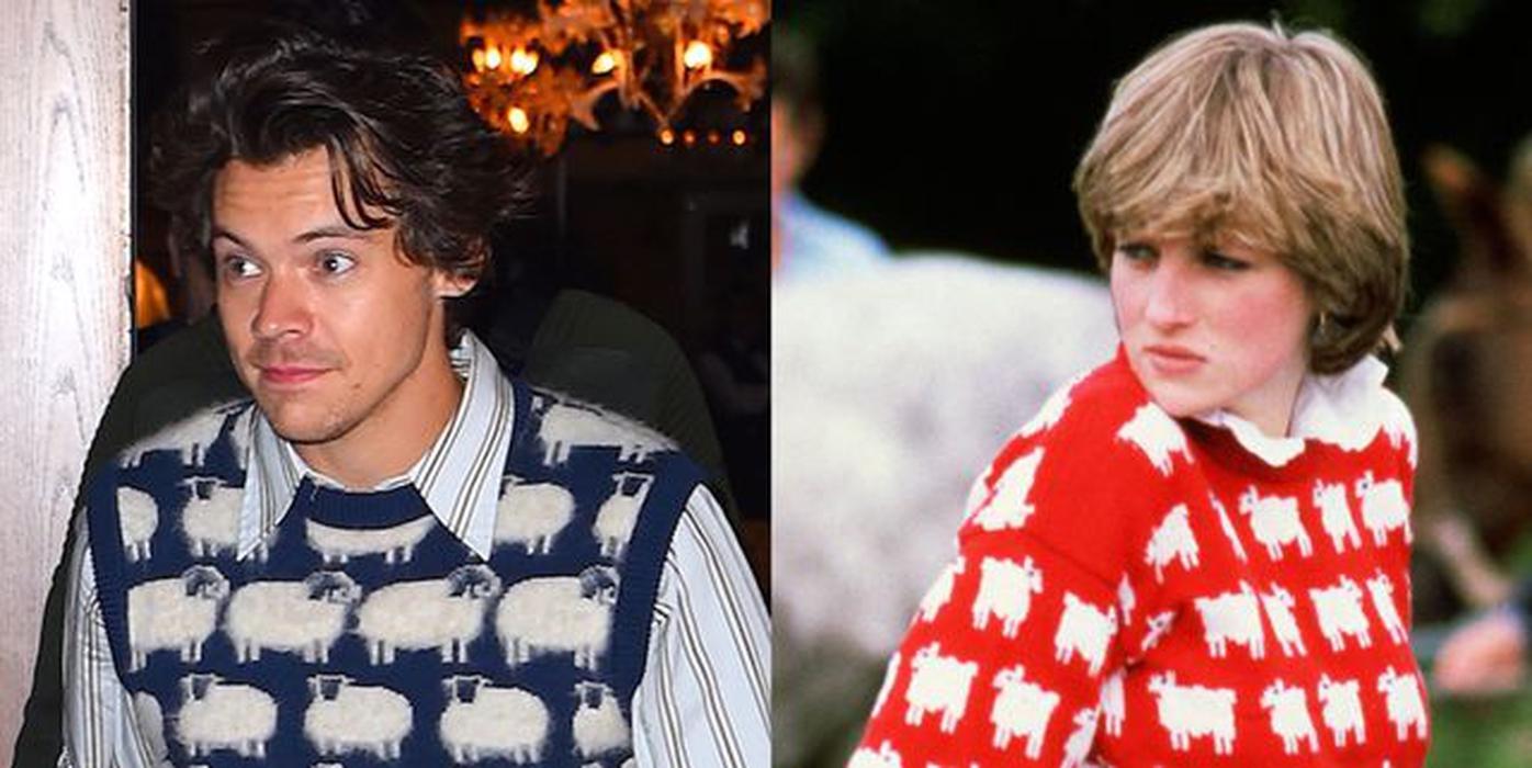 Sweater Harry Styles Terinspirasi dari Tampilan Putri Diana