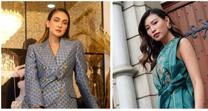 Gaya Luna Maya & Patricia Gouw Saat Hadiri Press Conference Indonesia's Next Top Model