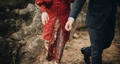 Inspirasi Foto Pre-Wedding Outdoor dengan Kebaya