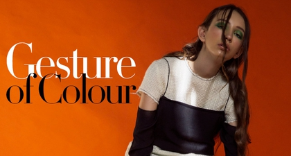 Fashion Spread: Gesture of Colour