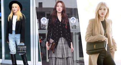 Foto Airport Fashion Selebriti Korea Sebelum ke Fashion Week