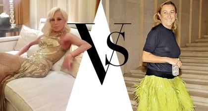 Donatella Versace vs Miuccia Prada Dalam Fashion