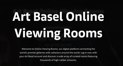 Art Basel 2020 Dilangsungkan Melalui 'Online Viewing Rooms'