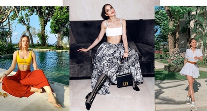 10 Inspirasi Gaya Resort dari Cinta Laura Kiehl