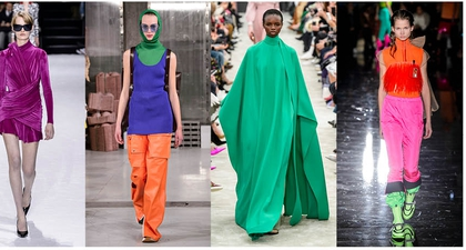 Ide Busana Berwarna dari Tren Fashion Musim Dingin