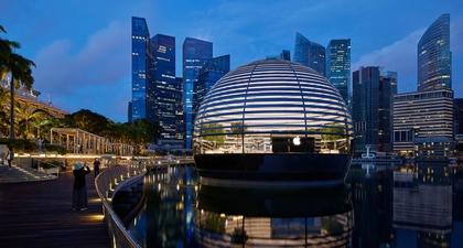 Butik Terbaru Apple di Singapura yang Mengambang di Atas Air