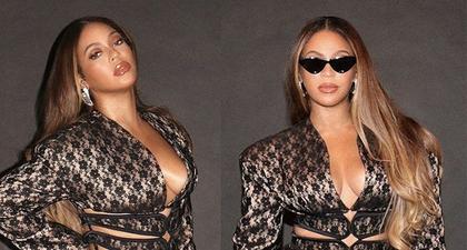 Beyoncé Kenakan Jaket Seksi dan Rok Mini Berbahan Renda
