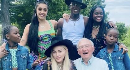 Madonna Bagikan Foto Manis untuk Peringati Ulang Tahun Ayahnya yang ke-90