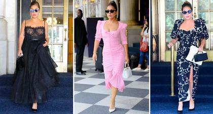 """Lady Gaga """"Menyulap"""" Plaza Hotel Jadi Panggung Runway ketika Tampil dengan Tiga Busana Berbeda"""