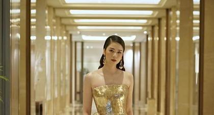 Gaun Emas yang Glamor Temani Laura BasukiMemegang Piala Citra 2020 Sebagai Pemeran Utama Perempuan Terbaik