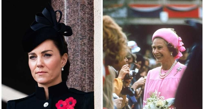 Kate Middleton Kenakan Anting Mutiara dan Berlian Milik Sang Ratu pada Hari Veteran