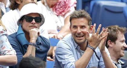 Kebersamaan Brad Pitt dan Bradley Cooper di US Open!