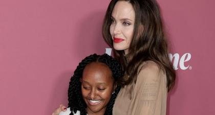 Momen Langka Angelina Jolie dan Putrinya, Zahara, Berbagi Momen di Karpet Merah