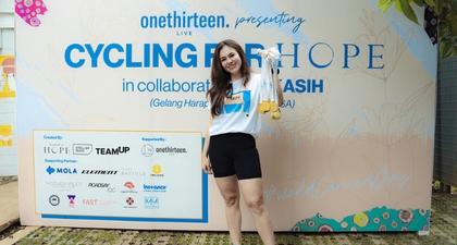 Melalui Kegiatan Bersepeda, Gelang Harapan (Hope) Mewujudkan Kampanye Kasih Bersama Stella Rissa, OnethirteenLive, dan TeamUp