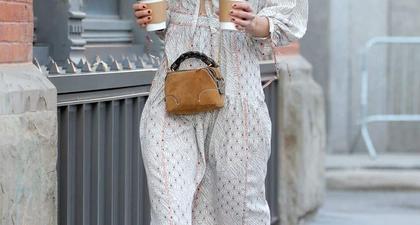 Katie Holmes Mengenakan Gaun Bernuansa Musim Semi dari Ulla Johnson