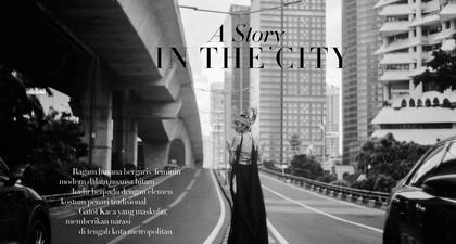 "Melihat Lebih Dekat Fashion Spread yang Padukan ""Little Black Dress"" Bersama Aksesori Bernuansa Budaya Indonesia"