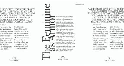 Valentino Merilis Kampanye untuk Koleksi Baru dalam Suguhan Untaian Kata