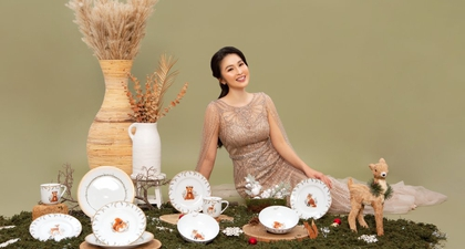 Koleksi Tableware Terbaru dari Sandra Dewi untuk Lengkapi Liburan Akhir Tahun