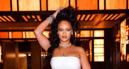 Rihanna Mengenakan Gaun Slip Berlapis Kristal saat Keluar Malam di L.A.