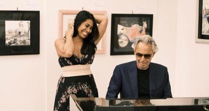 Anggun C. Sasmi Berkesempatan Duet dengan Seorang Maestro Musik Andrea Bocelli