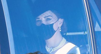 Foto-Foto Kate Middleton Saat Tiba di Acara Pemakaman Pangeran Philip